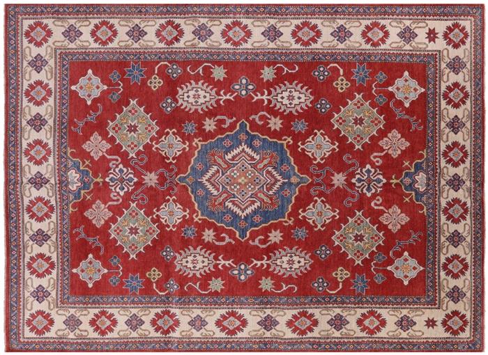 Adina Collection Oriental 10x14 Red Super Kazak Hand