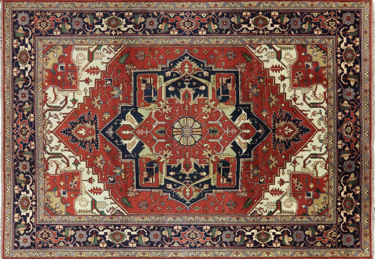 Red Heriz Serapi Wool Rug