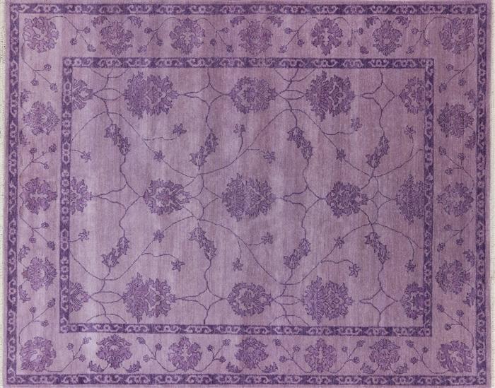 Modern Purple Oushak 8 X 10 Oriental Area Rug W2153