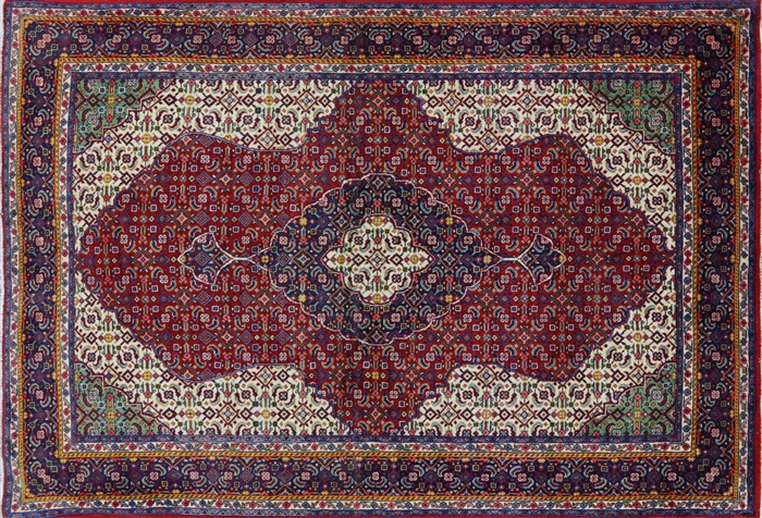 New Traditional Multi Color Bijar 3x5 Hand Knotted Persian