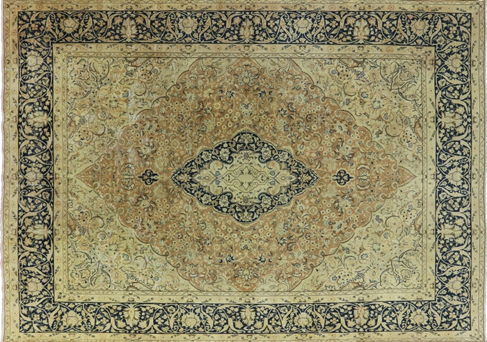 Persian 10 X 14 Oriental Persian Kerman Rug