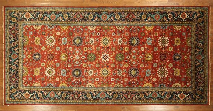 10 X 20 Red Blue Oriental Serapi Rug H3259