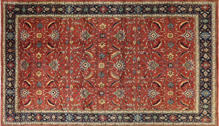 New Hand Knotted Heriz Serapi Wool Rug 14 X 24 Palace