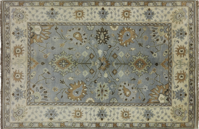 Oushak Hand Knotted Wool 6 X 9 Area Rug