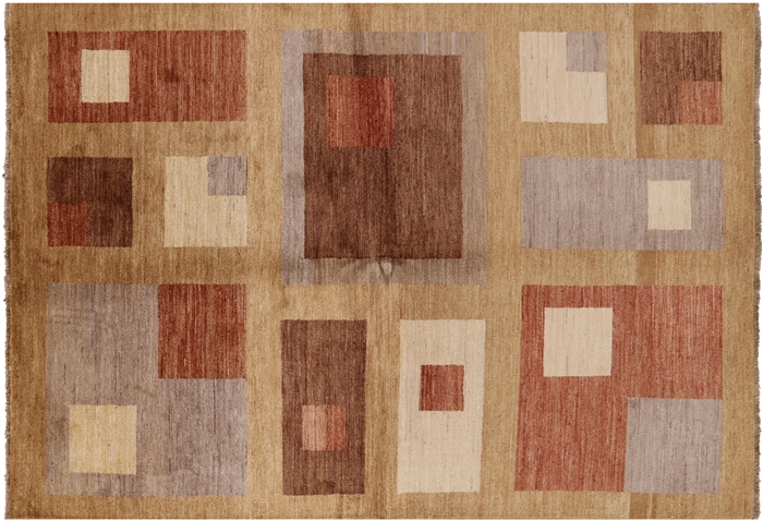 Hand Knotted Gabbeh Lori Buft Wool Area Rug 6 X 8