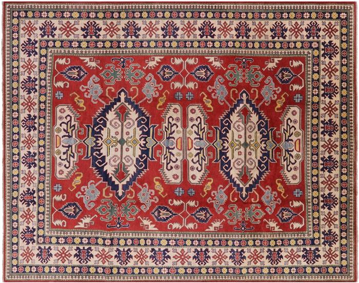 Unique Oriental 9x11 Hand Knotted Red Pakistani Super