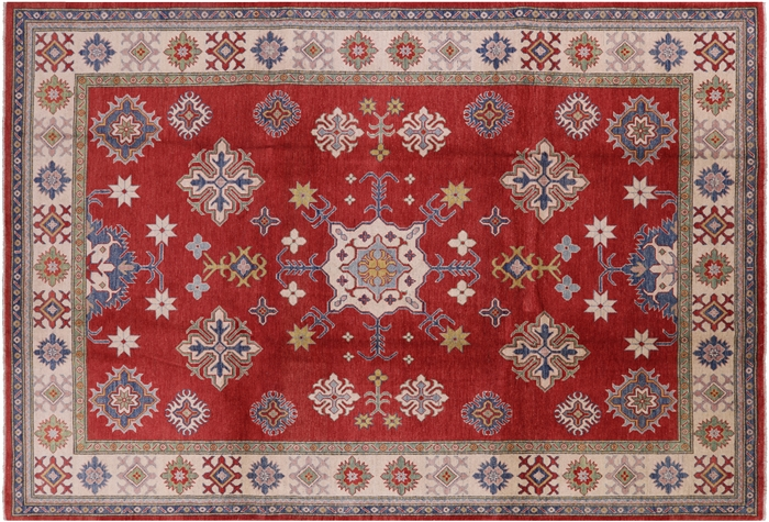 Hand Knotted 100 Wool Kazak 9x13 Area Rug