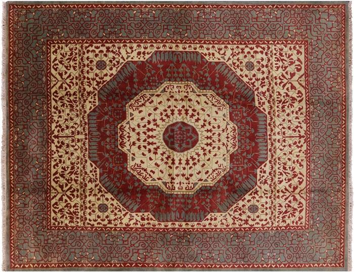 Hand Knotted 8 X 10 Mamluk Wool Area Rug
