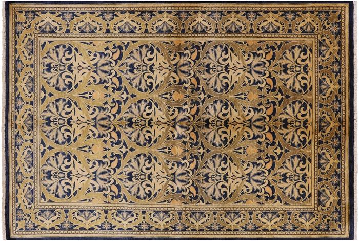 6 X 9 Hand Knotted William Morris Design Oriental Rug