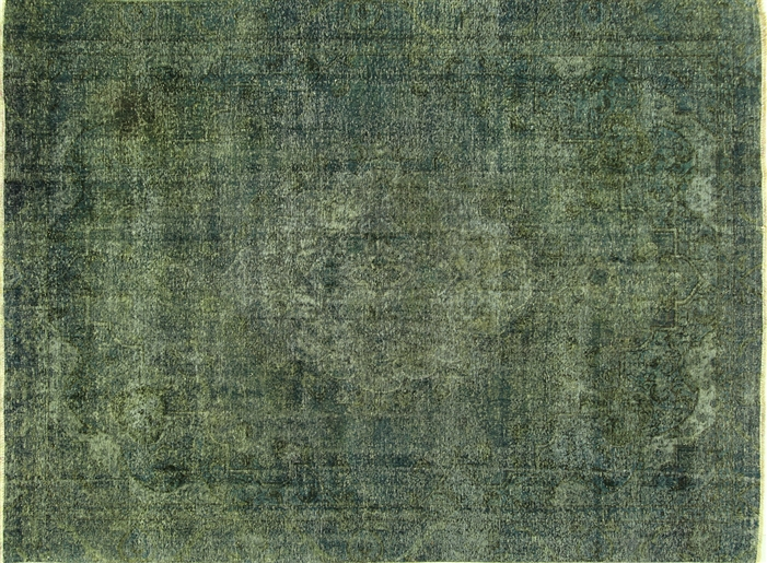 9 X12 Blue Green Oriental Overdyed Persian Hand Knotted