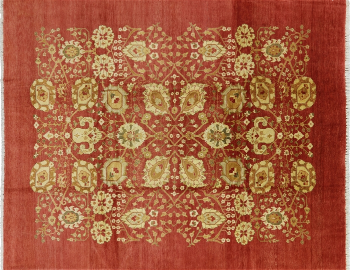 Valley Collection Oriental 8x10 Oushak Hand Knotted