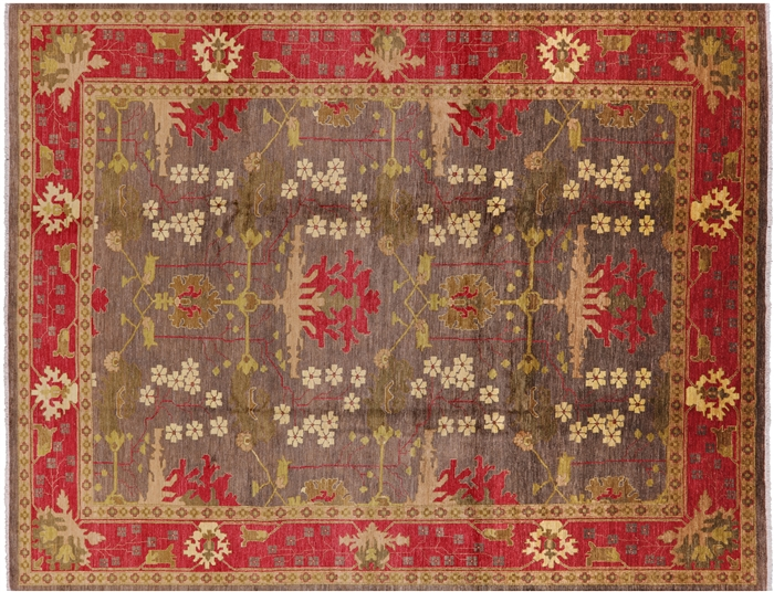 New Majestic Oriental Hand Knotted Area Rug 9 X 12 Olive