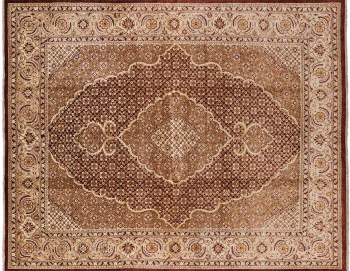 8 X 10 Oriental Tabriz Fish Design Area Rug P2510