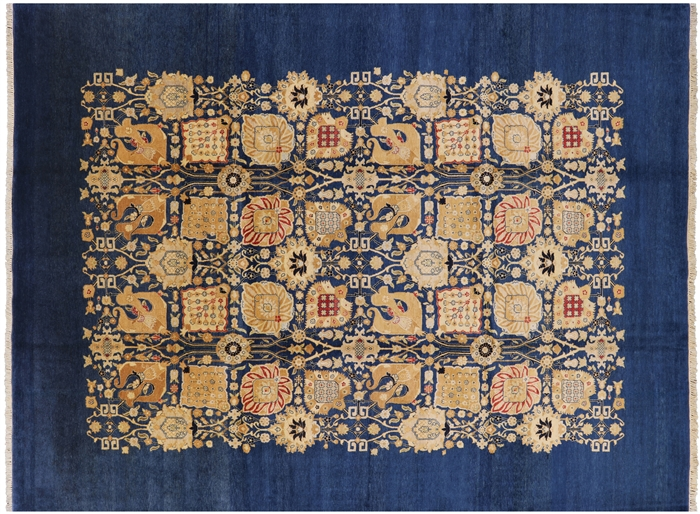 9 x 12 Chobi Peshawar Hand Knotted Area Rug - P2530