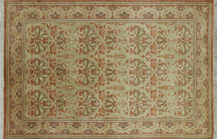 6 X 9 Floral Handmade William Morris Oriental Area Rug P2696