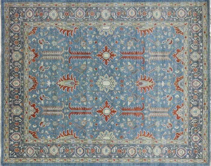 8 X 10 Oriental Blue Fine Serapi Area Rug P2836