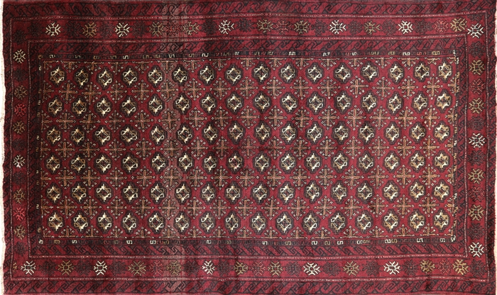 5 X 8 Bokhara Oriental Persian Wool On Wool Area Rug P3128