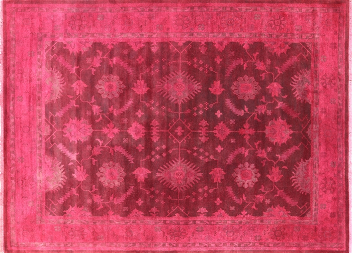 10 X 14 Oushak Overdyed Hand Knotted Oriental Rug P3132