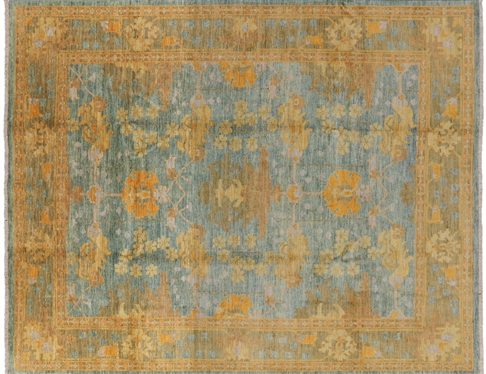8 X 10 Art Deco Oriental Modern Hand Knotted Area Rug