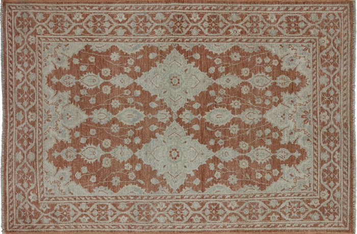 4 X 6 Hand Knotted White Wash Persian Rug