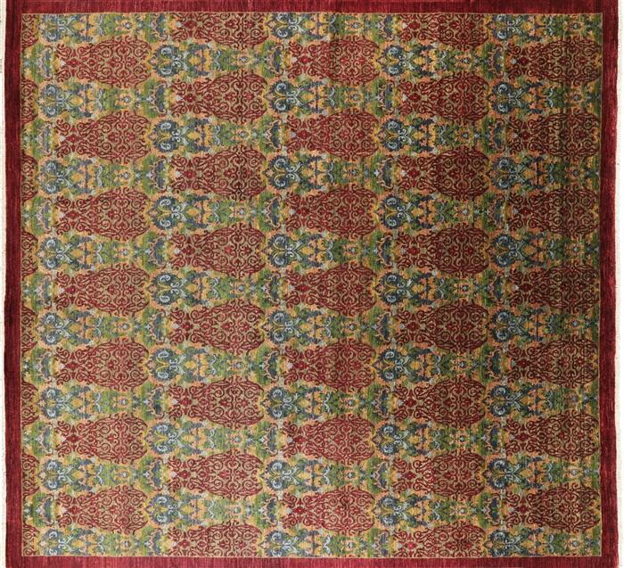 10 Square William Morris Oriental Area Rug
