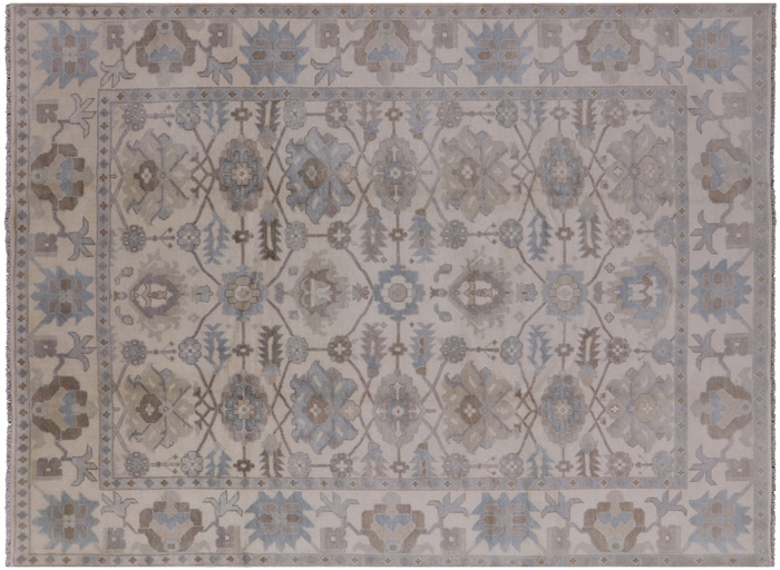 9 X 12 Hand Knotted Oushak Area Rug