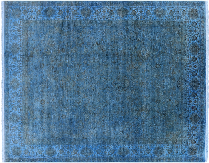 Oriental Blue Persian Full Pile Overdyed 8 X 10 Area Rug