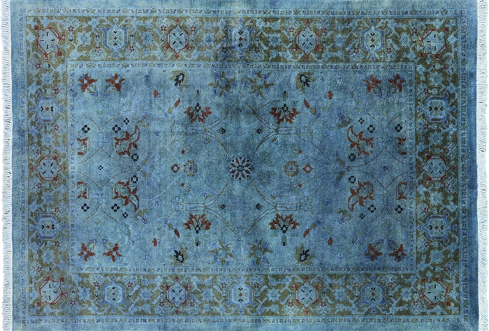 4 X 6 Overdyed Persian Full Pile Area Rug