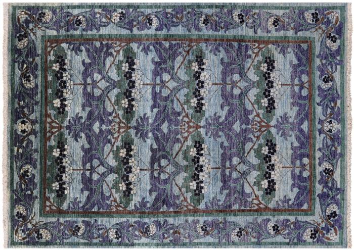 6 X 9 Handmade Wool William Morris Area Rug