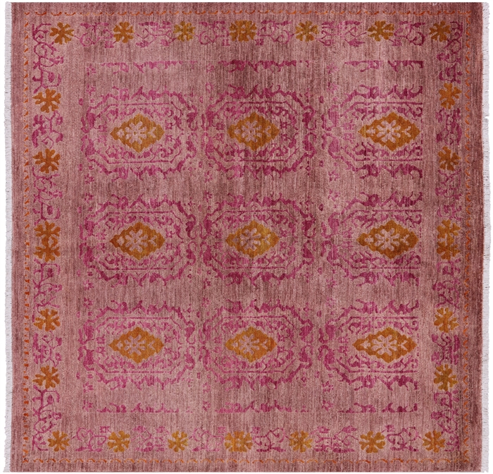 6 Square Hand Knotted Wool Arts Amp Crafts Area Rug