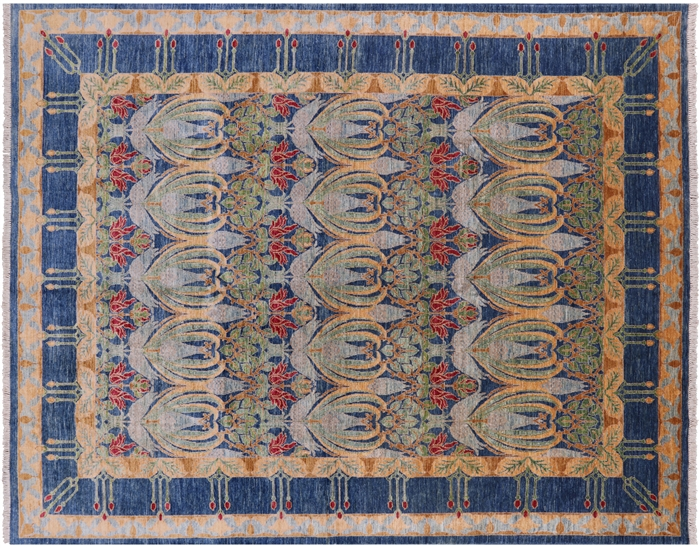 8 X 10 Hand Knotted William Morris Area Rug
