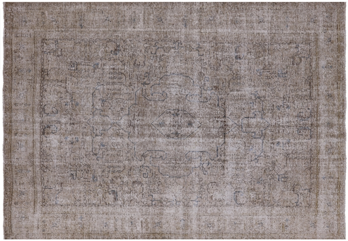 Hand Knotted Wool White Wash Persian Vintage Rug 7 10 Quot X