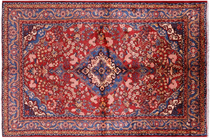 6 4 Quot X 9 5 Quot Hand Knotted Persian Nahavand Area Rug