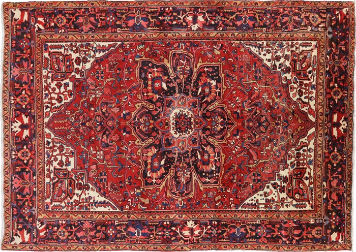 New Authentic Persian Fine Serapi 9 X 12 Hand Knotted Area Rug