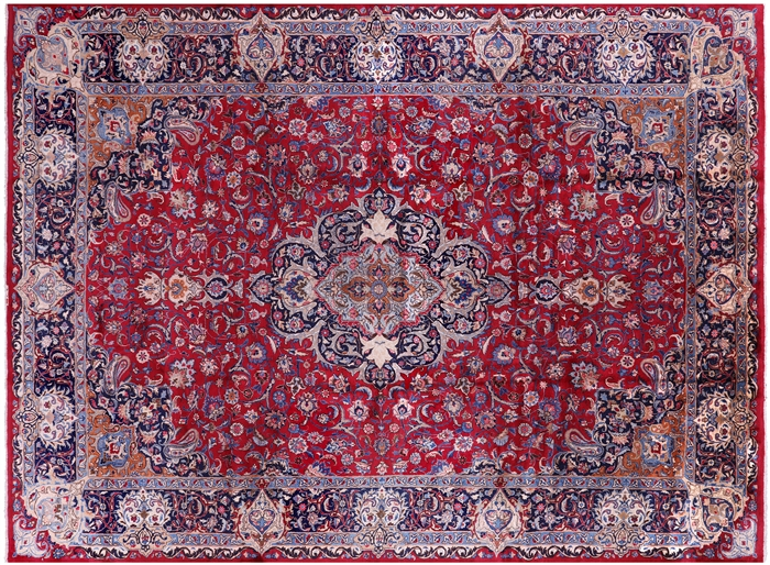 Handmade 10 X 13 Oriental Authentic Persian Kashmar Area Rug