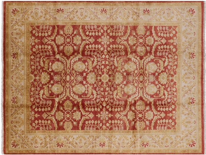 8 X10 Hand Knotted Chobi Peshawar Oriental Wool Rug W1395