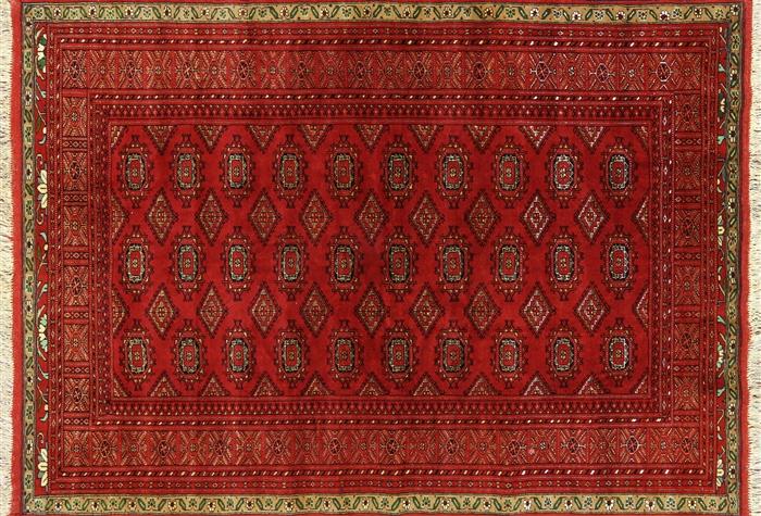 4 X 6 Oriental Wool Amp Silk Bokhara Persian Rug W1858