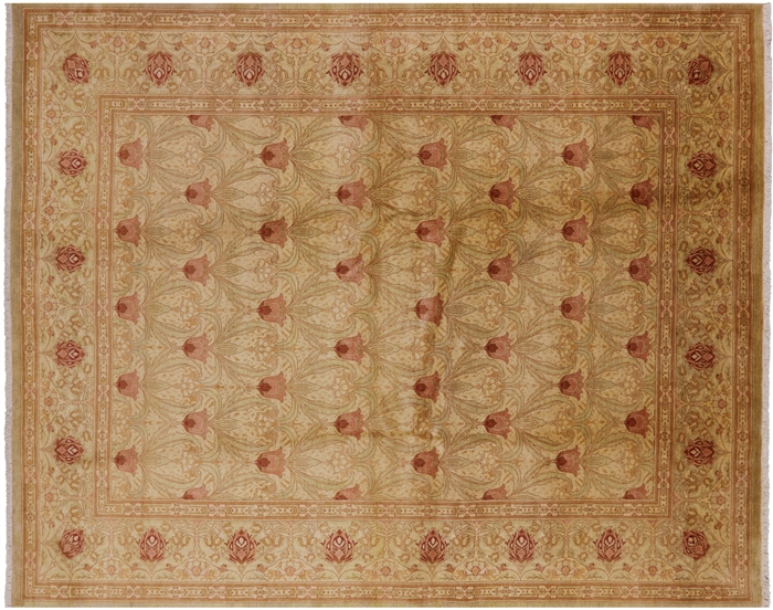 Oriental Hand Knotted William Morris Rug 8 X 10
