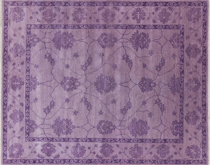 Modern purple oushak 8 x 10 oriental area rug w2153 for Purple area rugs contemporary