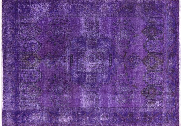 Oriental Purple Tabriz Overdyed 7 X 9 Area Rug W2604
